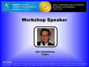 Jim Letourneau - Opening Slide